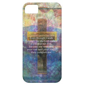 Psalm 23:4 - Even though I walk through... iPhone SE/5/5s Case
