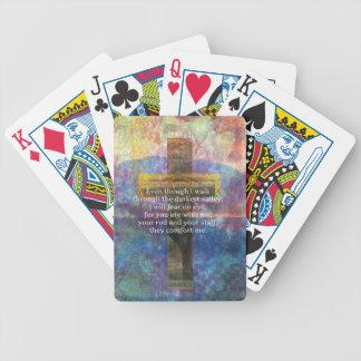 Psalm 23:4 - Even though I walk through... Poker Deck