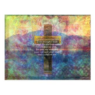 Psalm 23:4 - Even though I walk through... Postcard