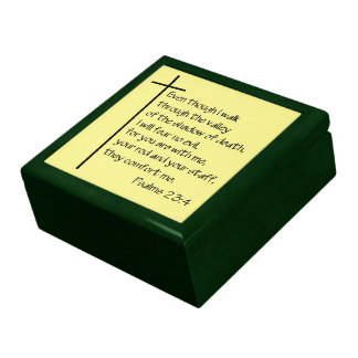 Psalm 23:4 jewelry box