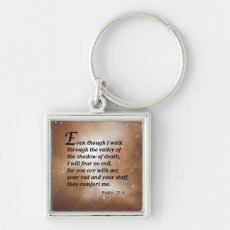 Psalm 23:4 keychain