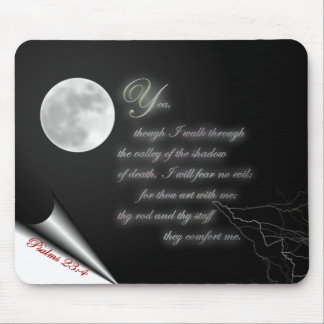 Psalm 23:4 mouse pad