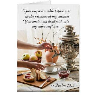 Psalm 23:5 You prepare a table before me, Bible Card
