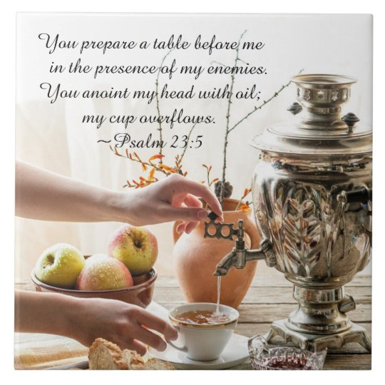 Psalm 23 5 You Prepare A Table Before Me Bible Tile