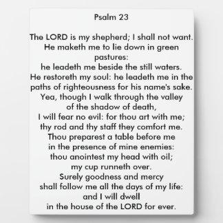 Psalm 23 8x10 Tabletop Photo Plaque