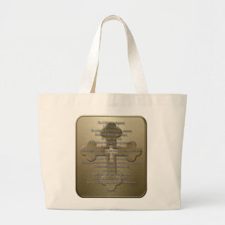 Psalm 23 - Bronze Tote Bags