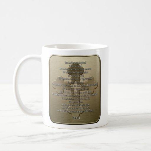 Psalm 23 - Bronze Coffee Mug