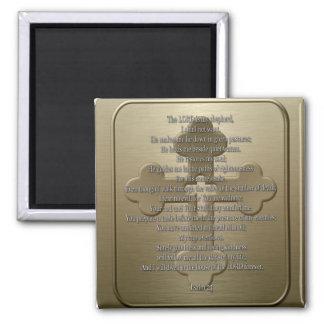 Psalm 23 - Bronze Magnet