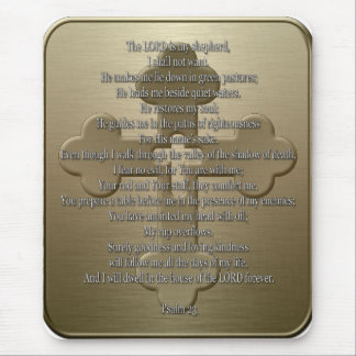 Psalm 23 - Bronze Mouse Pad