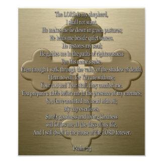 Psalm 23 - Bronze Photo Print