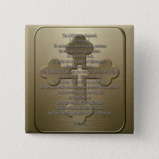 Psalm 23 - Bronze Pinback Button