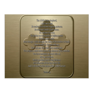 Psalm 23 - Bronze Post Cards