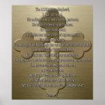 Psalm 23 - Bronze Poster