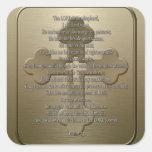 Psalm 23 - Bronze Square Stickers