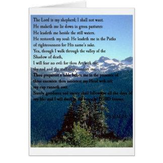 Psalm 23 card