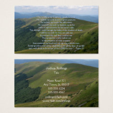 Psalm 23 - Christian Business Card at Zazzle