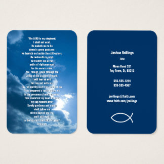 Psalm 23 - Christian Business Card