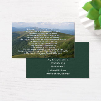 Psalm 23 | Christian Inspirational Business Card