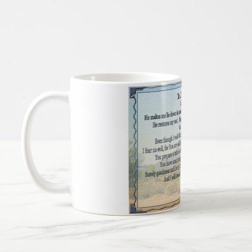 Psalm 23 coffee mug