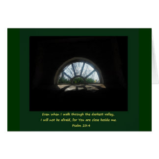 Psalm 23; Difficult time Card