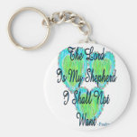 Psalm 23 hearts keychains