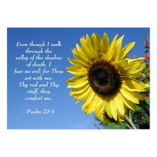 Psalm 23  - Inspirational Quotes - Wallet Card Large Business Cards (Pack Of 100)