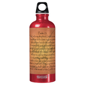 Psalm 23 KJV Christian Bible Verse Aluminum Water Bottle