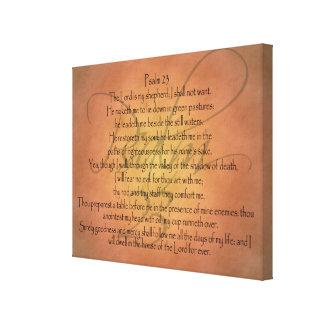 Psalm 23 KJV Christian Bible Verse Canvas Print
