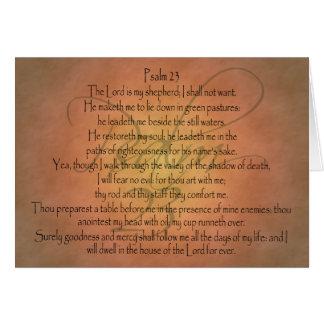 Psalm 23 KJV Christian Bible Verse Card