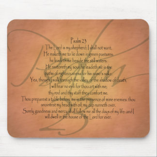 Psalm 23 KJV Christian Bible Verse Mouse Pad