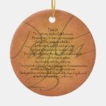 Psalm 23 KJV Christian Bible Verse Christmas Ornaments