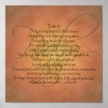 Psalm 23 KJV Christian Bible Verse Posters