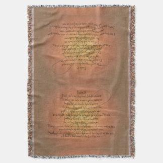 Psalm 23 KJV Christian Bible Verse Religious Throw