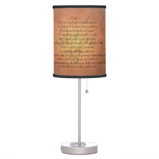 Psalm 23 KJV Christian Bible Verse Table Lamp