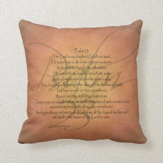 Psalm 23 KJV Christian Bible Verse Throw Pillow