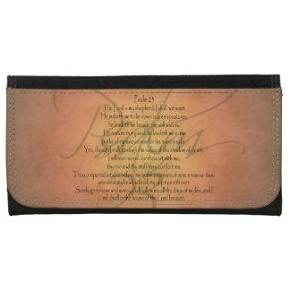 Psalm 23 KJV Christian Bible Verse Wallets