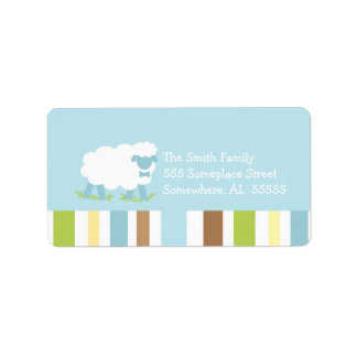PSALM 23 Little Lamb Boy Address Label