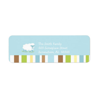 PSALM 23 Little Lamb Boy Return Address Label