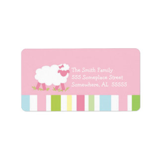 PSALM 23 Little Lamb Girl Address Label