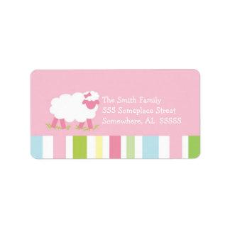 PSALM 23 Little Lamb Girl Address Label