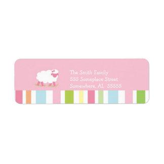 PSALM 23 Little Lamb Girl Return Address Label