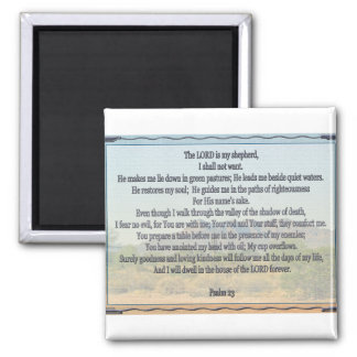 Psalm 23 2 inch square magnet