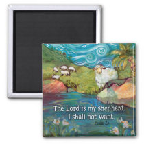 Psalm 23 Magnet, The Lord is My Shepherd Magnet