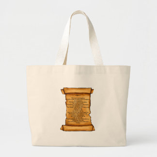 Psalm 23 on Old Scroll: Pastel Art: Scripture Canvas Bag