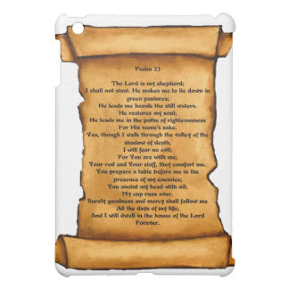 Psalm 23 on Old Scroll: Pastel Art: Scripture iPad Mini Case