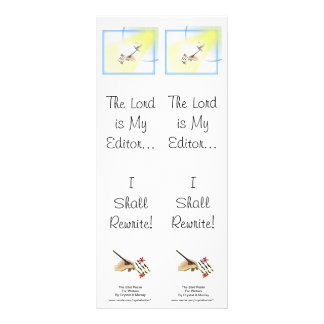 Psalm 23 Parody for Writers - Double Bookmark Rack Card
