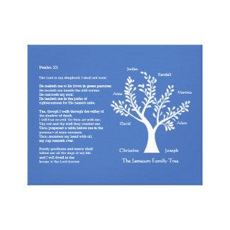 Psalm 23 plus Family Tree Canvas Print