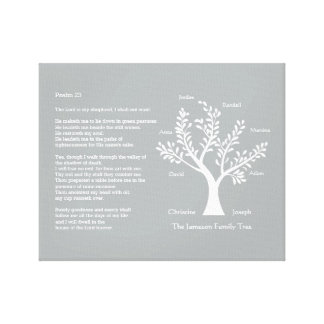 Psalm 23 plus Family Tree Gallery Wrap Canvas