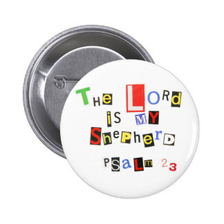 Psalm 23 Ransom Note Button