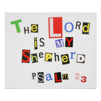 Psalm 23 Ransom Note Poster